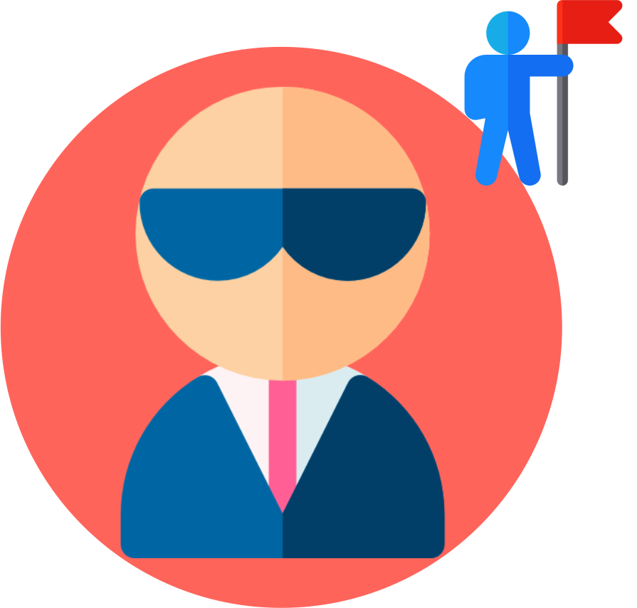 Image displaying a cartoon image of a CEO or Owner of a company